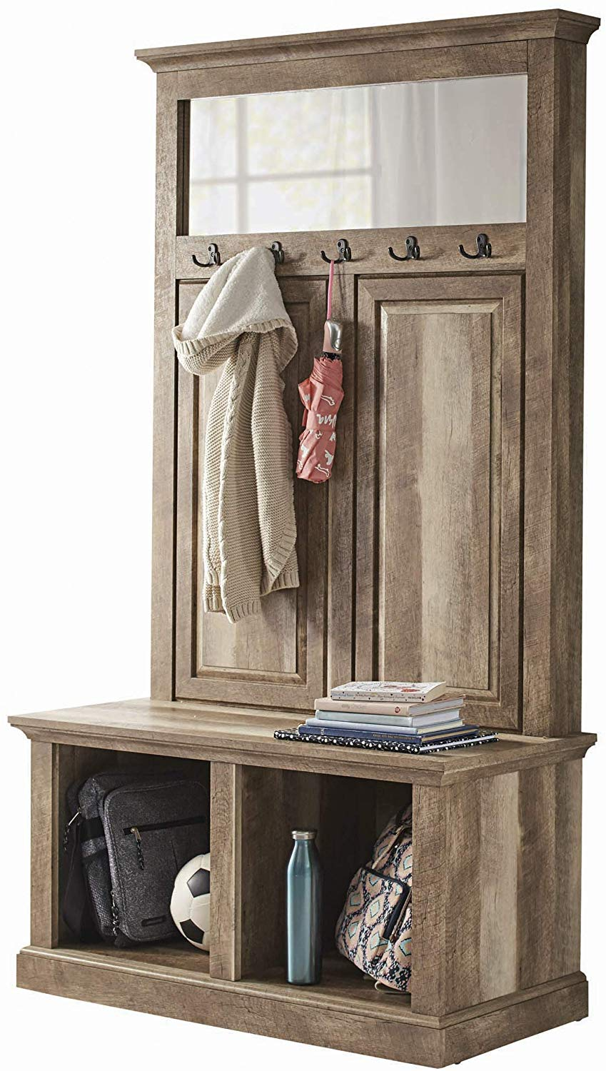 Strange Hall Tree Storage Bench Shelves Entryway Furniture My Evergreenethics Interior Chair Design Evergreenethicsorg