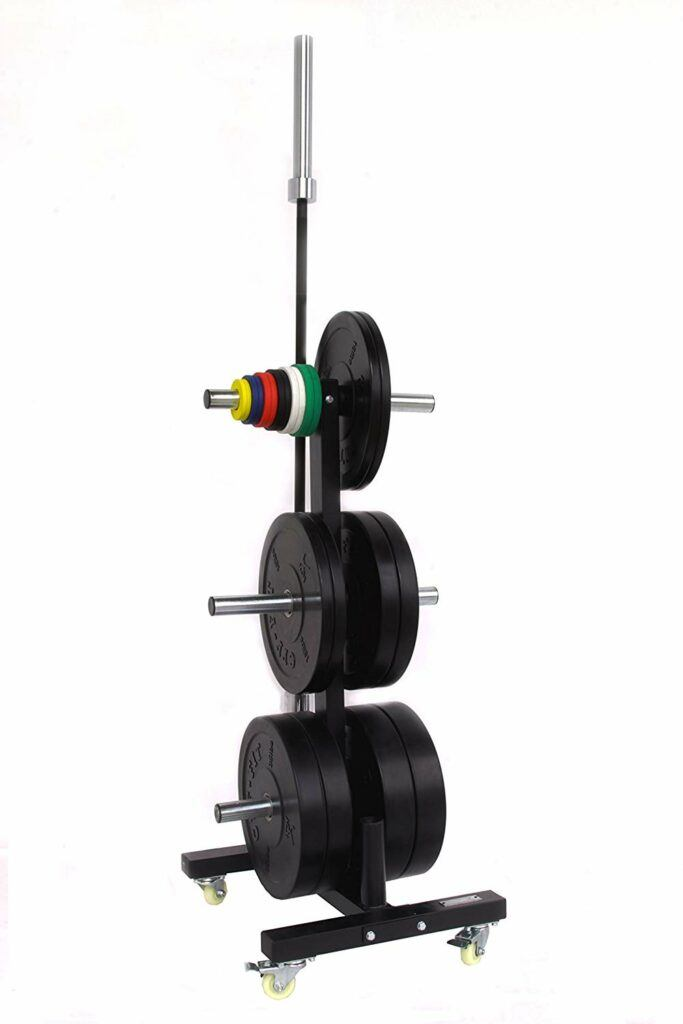 CFF Olympic 2 Bar & Bumper Plate Tree for Weights