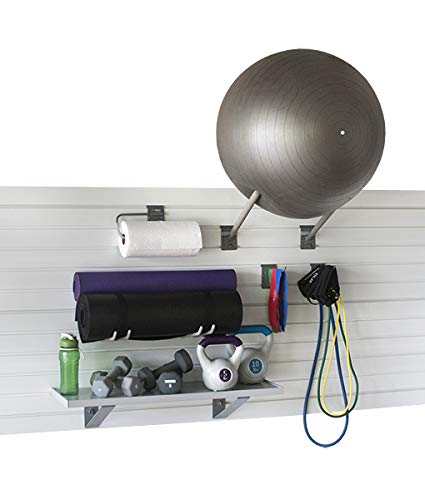 StoreWALL Home Gym Fitness Slatwall Storage and Organization Kit