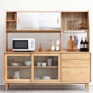 Natural Finish Wood Storage Sideboard