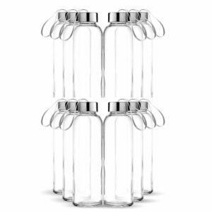 Chef's Star Glass Water Bottle 12 Pack 18oz