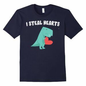 I Steal Hearts Valentine's Day Dinosaur Gift Shirt for Boy T-Shirt