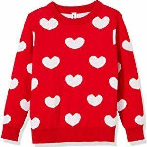 Girls Long Sleeve Pullover Love Heart Sweater