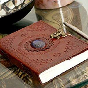Leather Journal With Semi-Precious Stones