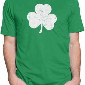 Retro Green Irish Distressed Shamrock