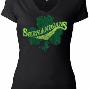Women's Shenanigans Shamrock Clover T-Shirt