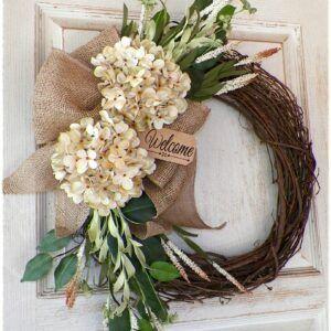 All Season Welcome Door Wreath