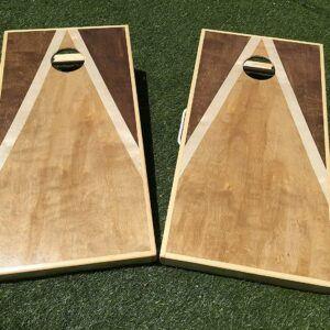 Stained Triangle Cornhole Board Set