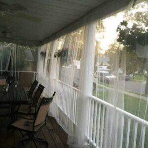 White Outdoor Mosquito Netting Curtain