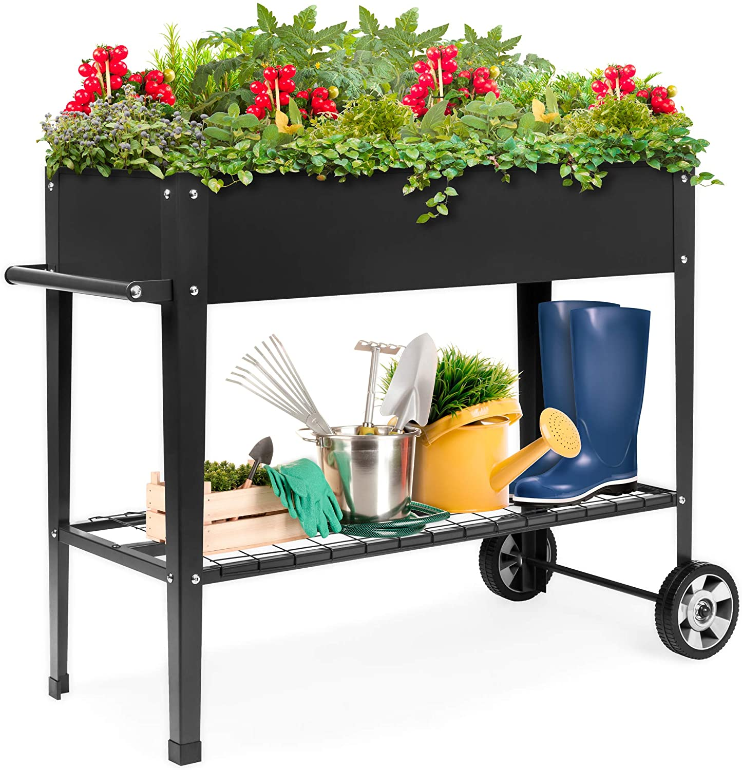 Best Choice Products Elevated Mobile Raised Metal Garden Bed