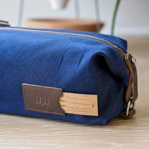 Clark & Craft Expandable Waxed Canvas Personalized Dopp Kit