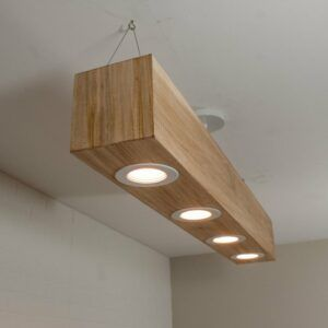 Modern Wood Beam Light