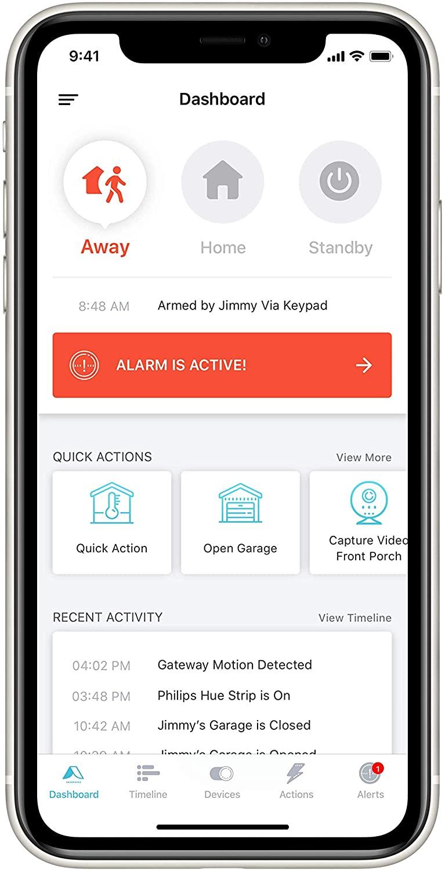 Abode Essentials Starter Kit Review App Dashboard
