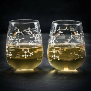 Chemistry of White Wine Stemless Glass Set