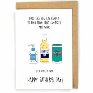 Harder To Find Than Hand Sanitizer Father's Day Card