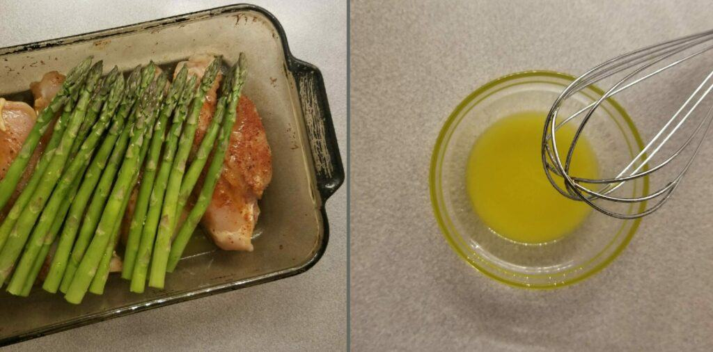 Cheesy Asparagus Lemon Chicken Bake Chicken Asparagus Lemon Oil