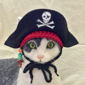 Jolly Roger Pirate Hat Cat Costume