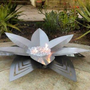 Lotus Fire Art Gas Burning Fire Pit