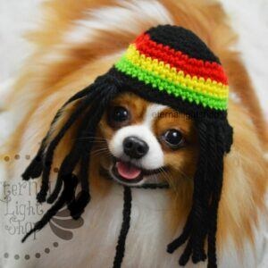 Pet Rastafarian Hat Beanie Costume