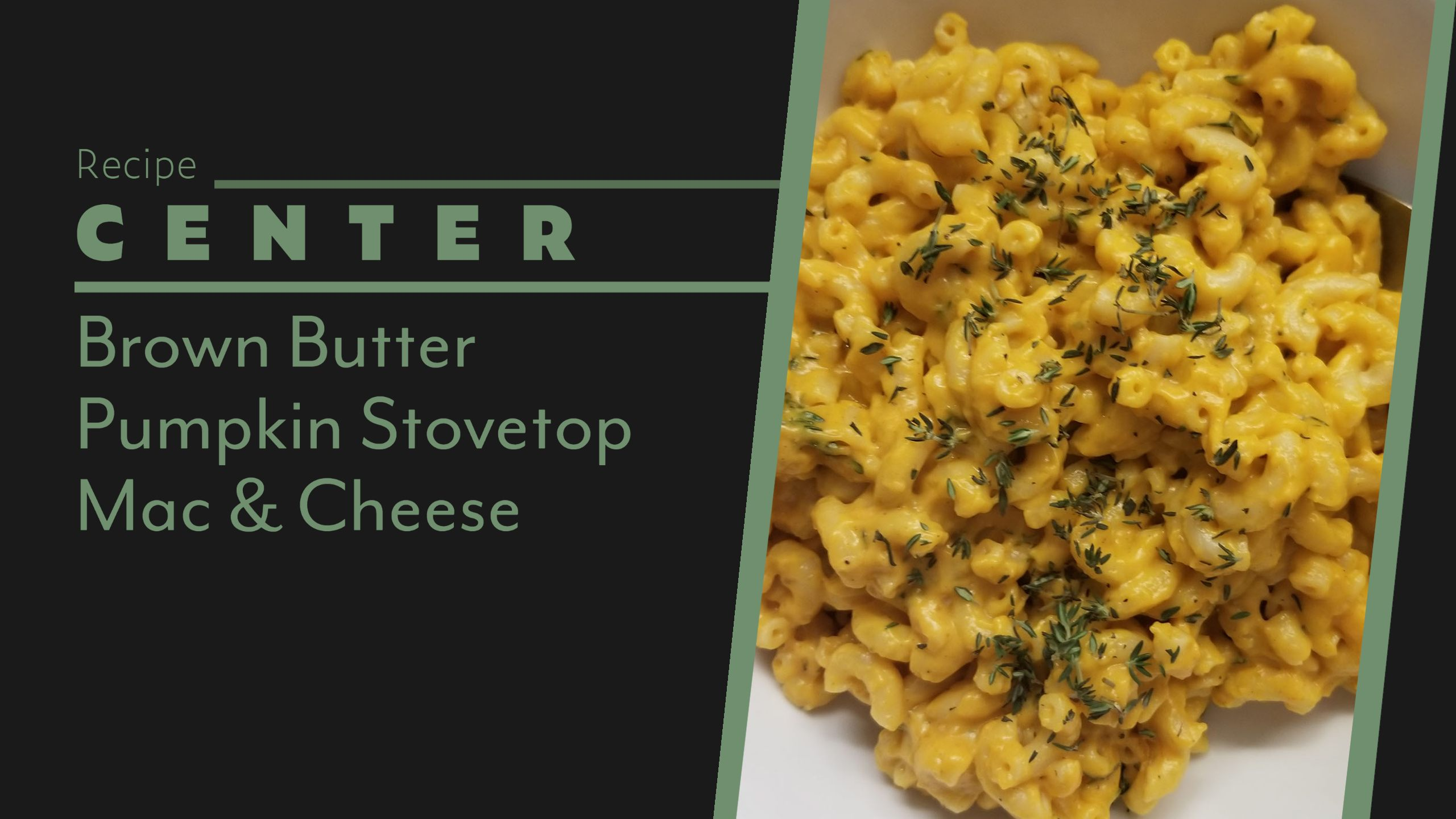 Brown Butter Pumpkin Mac Cheese Header