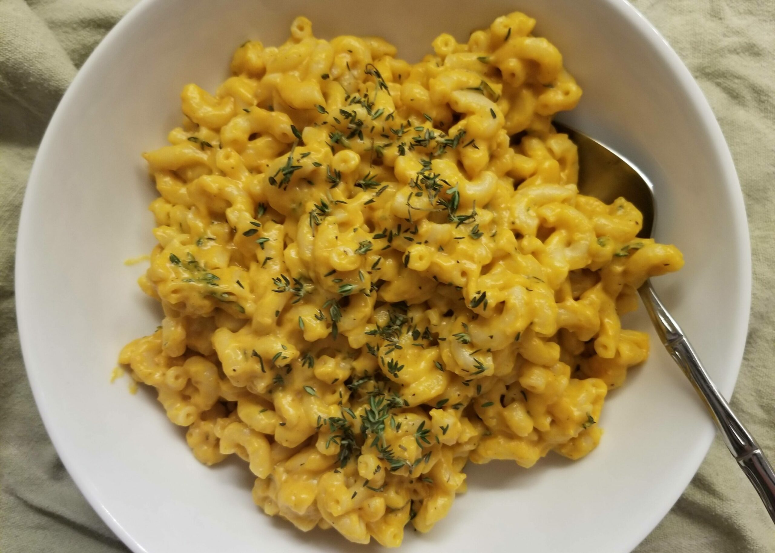 Brown Butter Pumpkin Mac Cheese Plated