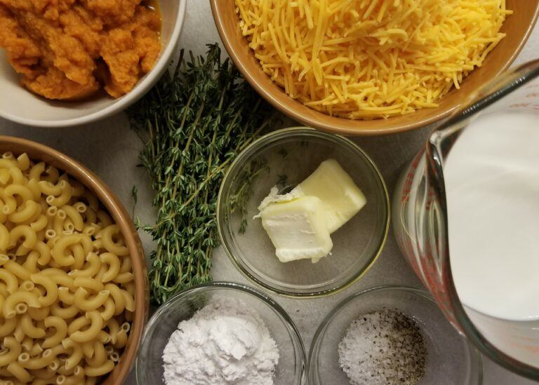 Brown Butter Pumpkin Mac Cheese Butter Ingredients