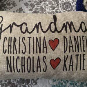 Customized Grandma Decorative Pillow