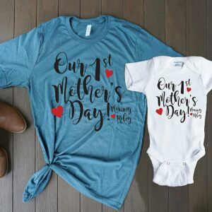 First Mother's Day T-Shirt Onesie Set