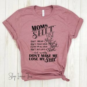Mom's List Cotton Graphic T-Shirt