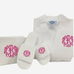 Monogramed Spa Robe Gift Set