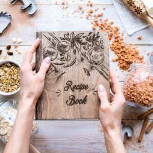 Personalized Wooden Recipe Binder