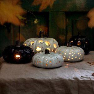 Autumn Ceramic Pumpkin Tea Light