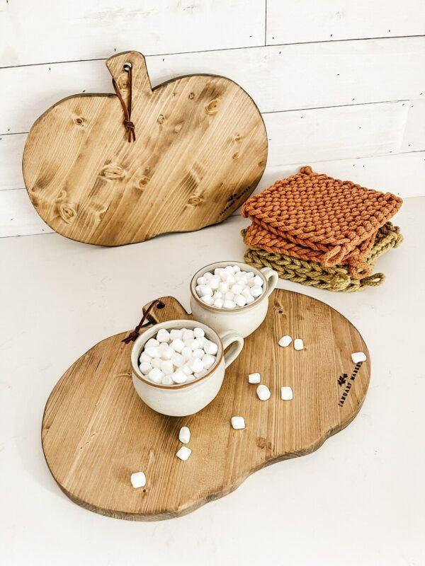 Decorative Pumpkin Wooden Bread Board