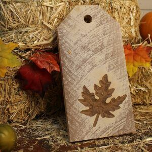 Fall Themed Decorative Wooden Door Tags