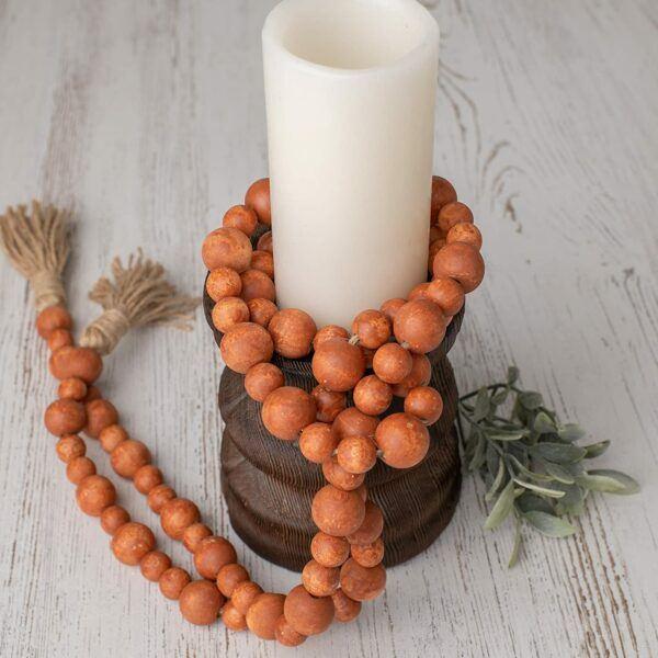 Wooden Bead Rustic Fall Garland